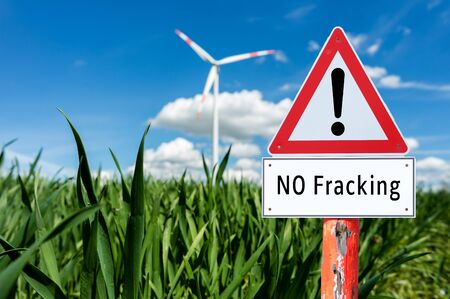 NO Fracking sign Stockfoto