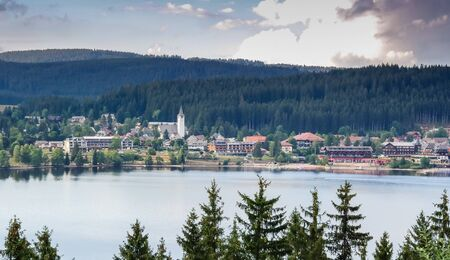 Panorama from Lake Titisee in the Black Forest