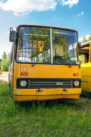 Historic bus front Stockfoto