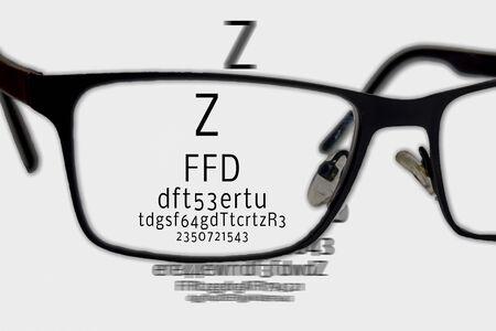 eyesight test optician Reklamní fotografie