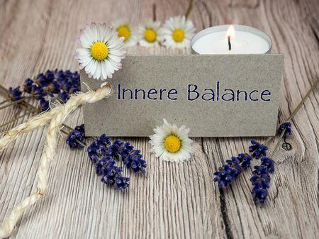 Inneres Gleichgewicht Banner Standard-Bild