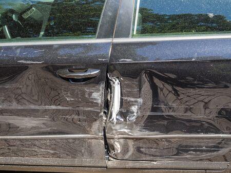 Sheet metal damage car accident Reklamní fotografie