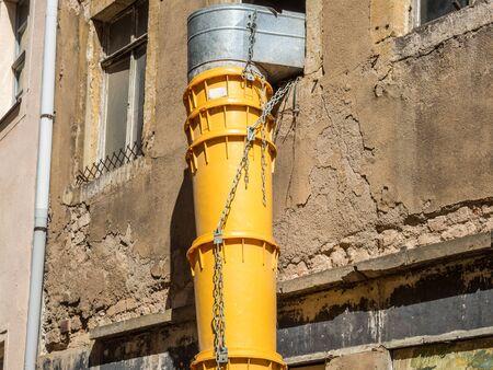 debris chute construction site