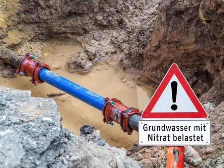 Groundwater loaded with nitrate shield