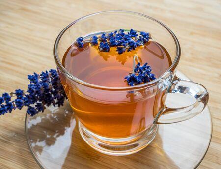 homemade lavender tea for relaxing Stock Photo