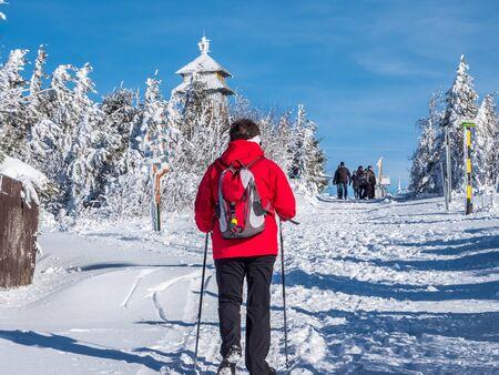 Nordic Walking on the Fichtelberg
