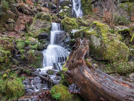 Waterfall in the mountains Blauenthal