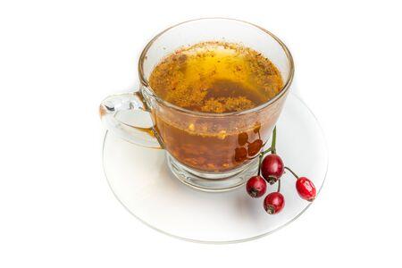Rosehip tea isolated