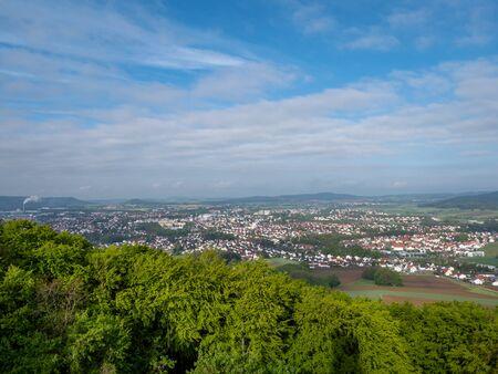 View from castle Wolfstein near Neumarkt in der Oberpfalz