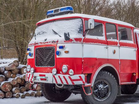 Old Czech Fire Truck Banque d'images - 130277317