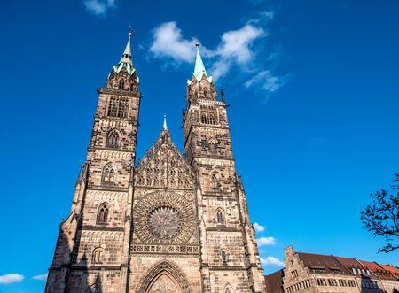 """Lorenz"" church in Nuremberg Middle Franconia Germany Stock Photo"