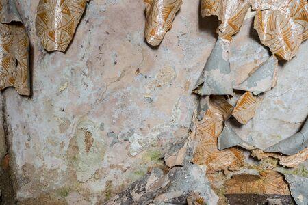 Peeling off a wood glaze Stock Photo