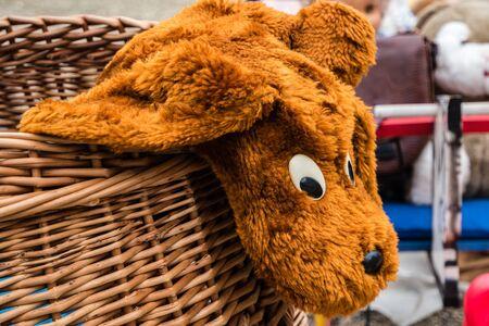 Old stuffed animal at the flea market