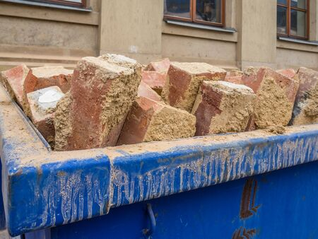 Container with bricks