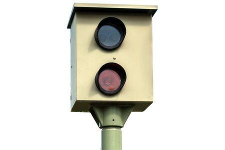 German Speed camera isolated