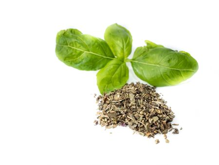 Basil with herbs Stock Photo