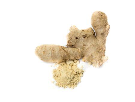 Ginger tuber with ginger 스톡 콘텐츠
