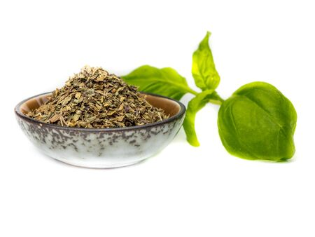 fresh Basil with herbs Stock Photo
