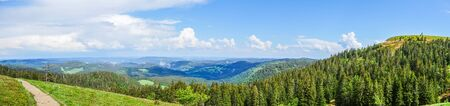 Panoramic view on the Feldberg in the Black Forest 免版税图像