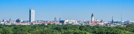 Panorama from Leipzig in East Germany