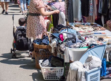 Flea market in the old town