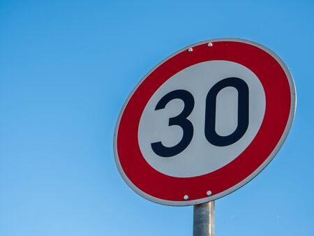 30 Street Sign in Germany