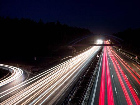 Panorama motorway junction in Germany