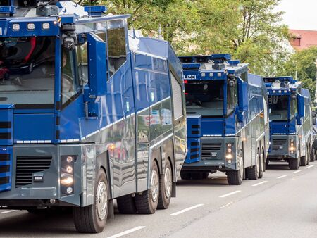 Water cannon of the Federal Police Banque d'images