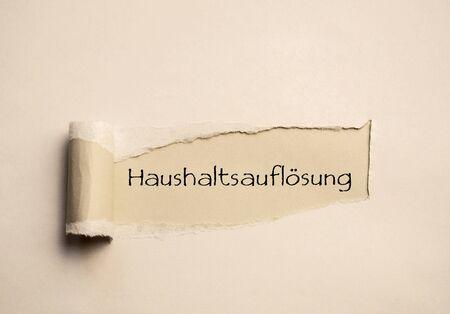 Housholds paper in German