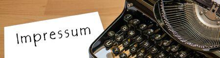 impressum Old typewriter