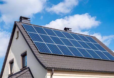 Energía solar en una casa
