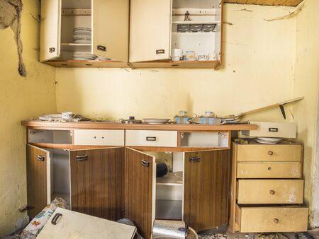 Burglary apartment devastation vandalism