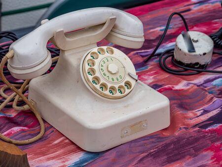Change of communication Old telephone Zdjęcie Seryjne