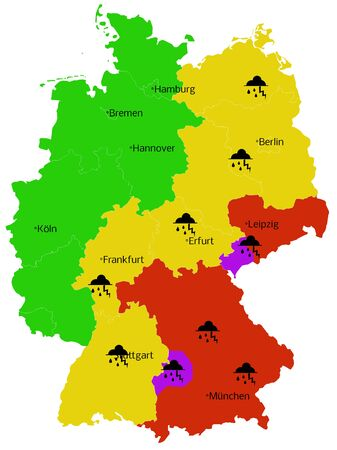 Bad weather Map of Germany