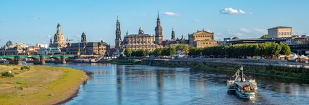City panorama of Dresden in Saxony