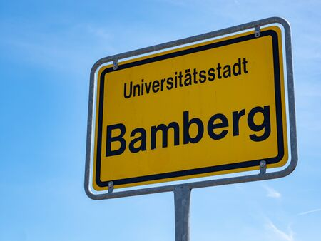 German Place Sign from Bamberg