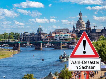 Election politics Disaster shield symbolic in german