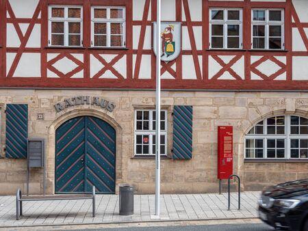 Town Hall of Feucht near Nuremberg Stock Photo