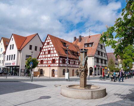 Skyline Feucht at Nuremberg in Franconia Stock Photo