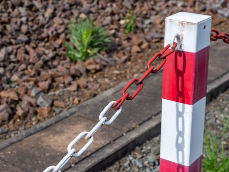Chain with bollard barrier for protection
