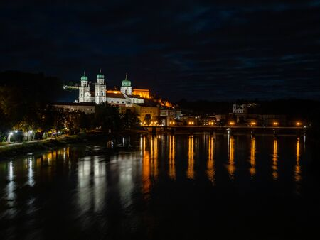 Passau St. Stephen's Cathedral at night