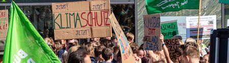 Panorama Fridays for Future Demo in german