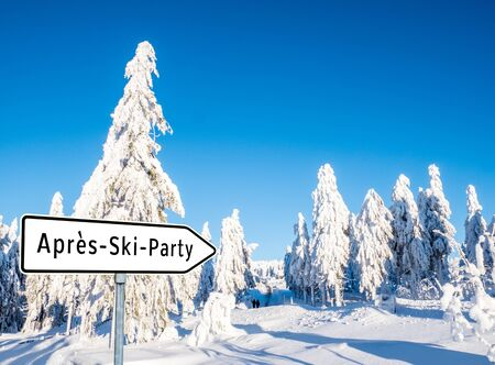 아프레스 스키 파티 스톡 콘텐츠