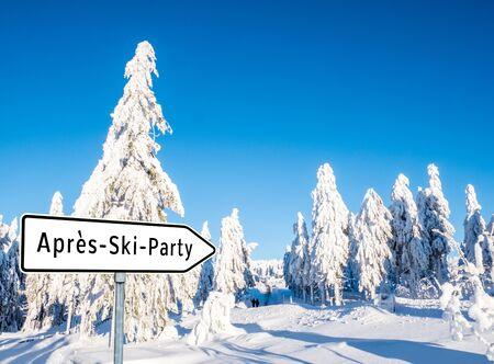 Après-Ski-Party Standard-Bild