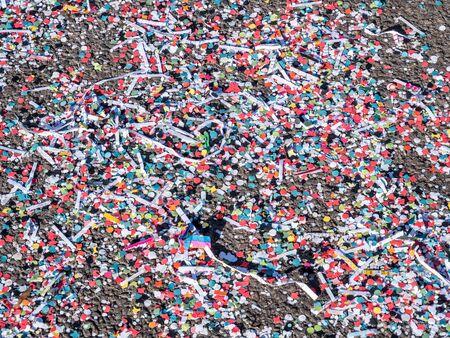 Texture confetti in the carnival
