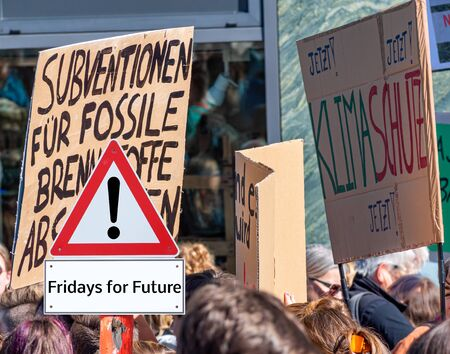 Warnschild Fridays for Future Demonstration Warn Sign