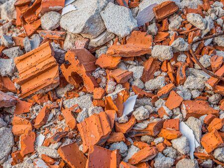 Building rubble texture construction site brick