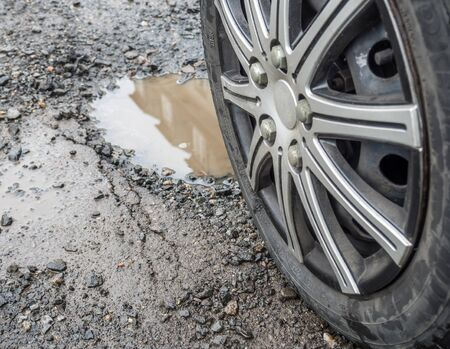 Pothole in the street