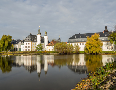 Blankenhain Castle  East Germany in the autumn