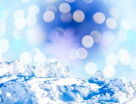 Christmas background Snow with bokeh Фото со стока